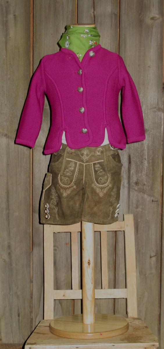 Kidstracht Strickjacke fuchsia Gr 68-164 zum Dirndl / Dirndljacke Lederhose pink  eBay