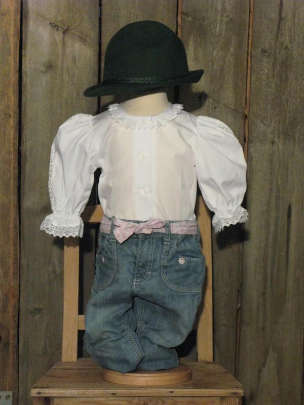 kidstracht bluse spitzenkragen wei langarm gr 68 152 trachtenbluse z lederhose ebay. Black Bedroom Furniture Sets. Home Design Ideas