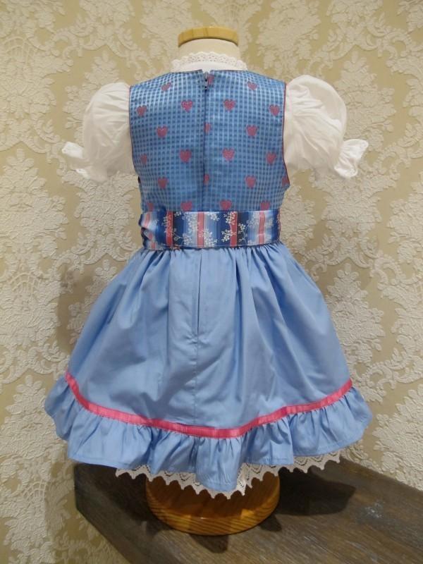 kidstracht dirndl hellblau pink inkl bluse gr 62 164. Black Bedroom Furniture Sets. Home Design Ideas