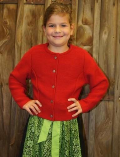 Kidstracht Strickjacke rot zum Dirndl / Dirndljacke Kinderdirndl Gr 68-176 neu  eBay